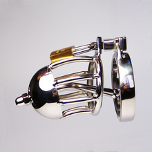 Buy Male Chastity Belt Urethral Sounding, Stainless Steel Cock Cage Device, Penis Plug/Ring Cock Lock Sex Toys Men