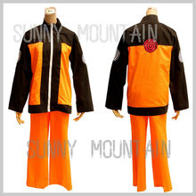 Free shipping! Naruto suit from Naruto Shippuden cosplay costumes(shoe / wig is sale in store)