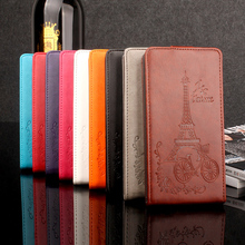 "For SONY Xperia C S39H C2305 C 2305 2305 Case 5"" Luxury Elegant Windbell Tower Embossing Leather vertical flip protective cover(China)"