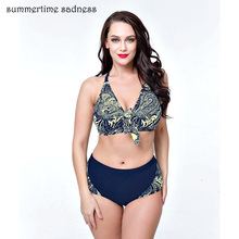 2017 Spring Summer New Arrival Bikini Push Up Swimwear Women Gather Swimsuit Plus Size Big Cup Bathing Suit Female Graceful Swim(China)