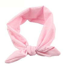 Newly Design Girls Rabbit Bow Ear Hairband Headband Turban Knot Head Wraps For Little Kids July13 Drop Shipping(China)