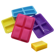 4 Hole Rectangular Handmade Diy Chocolate Mold Silicone Ice Mold Fondant Cake Pastry Kitchen Baking Tools Cake Decorating