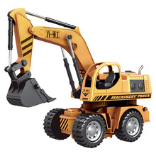 HELIWAY 1:12 Original Rc Truck Excavator Wire Control Flash Toy Remote Control Electric Engineering Truck Model Vehicle Toys(China)