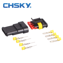 CHSKY 2 pieces 4 pins wire connector sealed Waterproof hid Connector model Dj7041Y-1.8 Modified Car Plug
