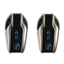 Newest Universal Bluetooth Car Kit Handsfree FM Transmitter Radio MP3 Player USB Charger Silver for Phones Car-styling(China)
