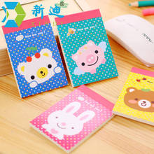 XINDI New Stationery Kawaii Cartoon Animils Scratch Pad Daily Memo Notebook 9.1*6.2CM Planner Mini Book Free Shipping(China)
