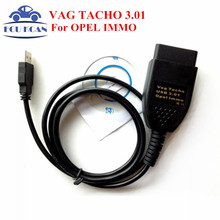 Best Price High Quality VAG TACHO 3.01 + For Opel Immo Reader Interface OBD2 USB Cable EEPROM IMMO PIN Mileage Correction(China)
