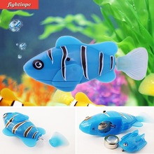 Funny Swim Electronic Robotic Fish Toy Activated Battery Powered Robotic Pet for Fishing Tank Decorating Fish(China)