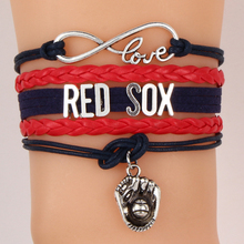 Infinity Love RED SOX baseball Sports MLB Team Bracelet Customize Themes  Sports friendship Bracelets & Bangles Braided Jewelry