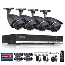ANNKE 4CH 720P AHD DVR Video 4 PCS 1.0MP CCTV Home Security Cameras 720P HD Outdoor IR Night Vision Surveillance System Kit
