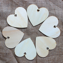 50pcs 100mm Blank Heart Wood Crafts Art Home Wedding Decoration DIY Laser Cut Rustic Wooden craft supplies(China)