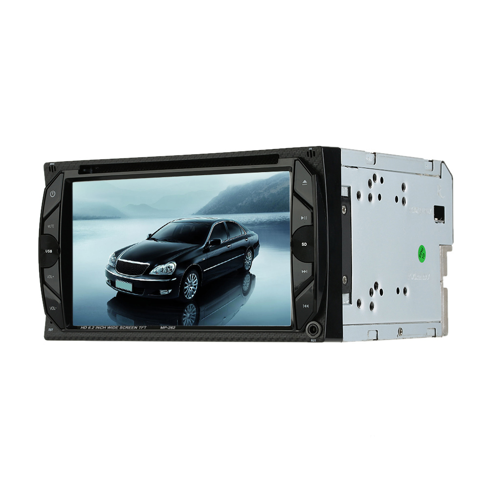 "Universal Double 2 Din Car DVD player 6.2"" Car Autoradio Video/Mutimedia MP5/4/3 Player Car Stereo audio player with display(China)"