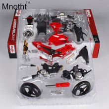 Mnotht 1:12 DIY DCT 696 Red Motorcycle Model Diecast 2011 Version Ducati Assembly Line Motorcycle Model Vehicle Hotsales(China)