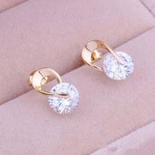 Tomtosh 2017 New Hot Women's Jewelry Gift Gold Zircon Crystal Earring Eardrop Earbob Ear Studs