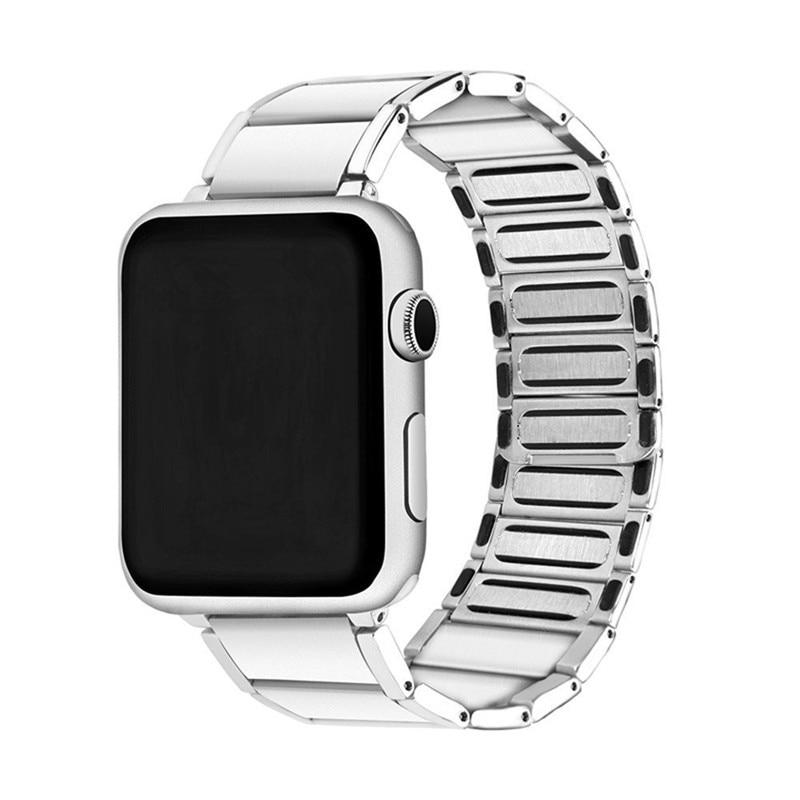 Luxury stainless steel watch band for apple series 1 2 3 watch strap 38-42 mm reloj hombre marca de lujo heren horlogewatcha bracelet (3)