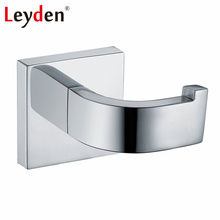 Leyden High Quality Modern Stainless Steel Clothes Hook Polished Chrome Wall Mounted Silver Robe Hooks Bathroom Accessories
