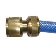 New Brass Metal Garden Water Hose Connector Can Be Through Water Pipe Connector Accessories Watering Garden Hose Connector(China)