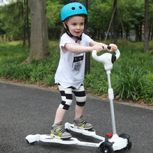 Four Wheel Scooter 2-6 year old Kids Best Quality Kids Scooter For Sale Full Flash PU Wheel Within 50KG