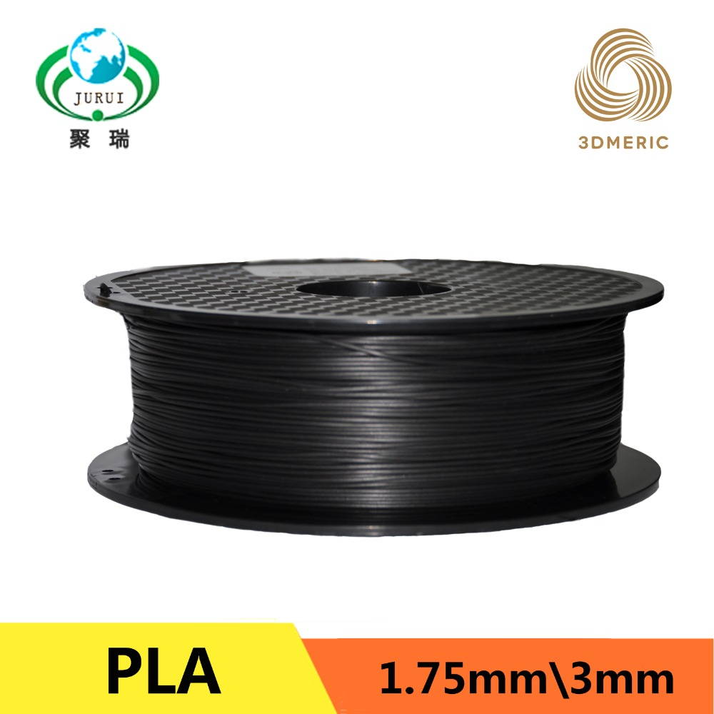 Black 3D Printer Filaments PLA 1.75mm for Makerbot Reprap Mendel UP Machine 1kg(2.2lb)<br>