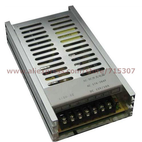 Leetone K120-12 120W switching power supply 12V 10A high efficiency 176-264VAC input with OVP &amp; OTP for 3 years warranty<br>