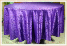purple hook flower Jacquard Tablecloth/Table Cover For Wedding Party Hotel Banquet Home Decorations(Chair covers&Sashes)