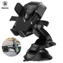 Baseus Universal Robot Car Phone Holder Stand 360 Degree Telescopic Sucker Mobile Phone Holder For iPhone 7 6 6s Samsung S8 S7(China)