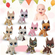 Cute Pet Rare Color Sausage Short Hair Dog Action Figure Girl's Collection Classic Anime Christmas Gift LPS Doll Kids Toys(China)