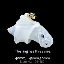 Buy SODANDY Stinging Silicone Male Chastity Device Penis Lock Plastic Chastity Belt Cock Cage Spikes Penis Ring Bondage Sex Toys