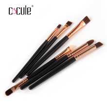High Quality 6PCS/set  Professional  Eye Brushes Set Eyeliner Brushes 5 colors  Packing Cosmetic Make Up Brush Tools Kit