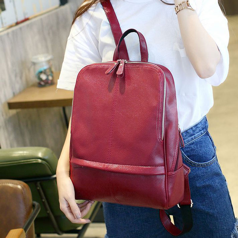 2017 Fashion Backpacks Women Pu Leather School Bag Girls Female Candy Color Travel Bags Waterproof Back Bag<br><br>Aliexpress