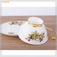 1Pcs Creative Afternoon Tea Bone Porcelain Cup And Hand Saucers Personality Bird Pattern Coffee Cup Ceramic Coffee Cup 5ZDZ468(China)