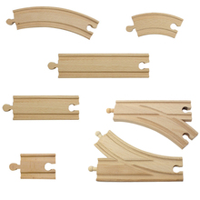 Wooden Train Track Set Railway Accessaries  - 100% Compatible with All Major Brands including Thomas