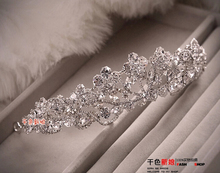 wedding Crystal tiara Rhinestone Elegant Princess Bridal Crowns Wholesale Queen style Czech stone Christmas Gift Free shipping