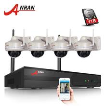 4CH H.264 HDMI WIFI NVR CCTV Kit 720P Outdoor IR Vandal-proof Dome IP Camera Wireless Security Surveillance System 1TB HDD