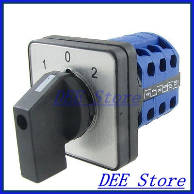 1.5A/380VAC 0.14A/220VDC 1-0-2 Position Universal Changeover Switch<br><br>Aliexpress