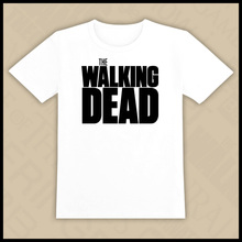 The Walking Dead t-shirt Top Lycra Cotton Men T Shirt High Quality