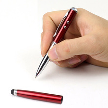 1pcs Durable 4in1 LED Laser Pointer Torch Touch Screen Stylus Ballpoint Pen for iPhone for Ipad for Samsung