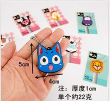 cute cartoon silica gel led flash key chain key cover key Silicone Protective key Cover mix design