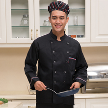 Autumn and Winter Kichen Cook Clothing  Hotel Restaurant Chef Cake Shop Waiter Pastry Baker Overalls No Apron