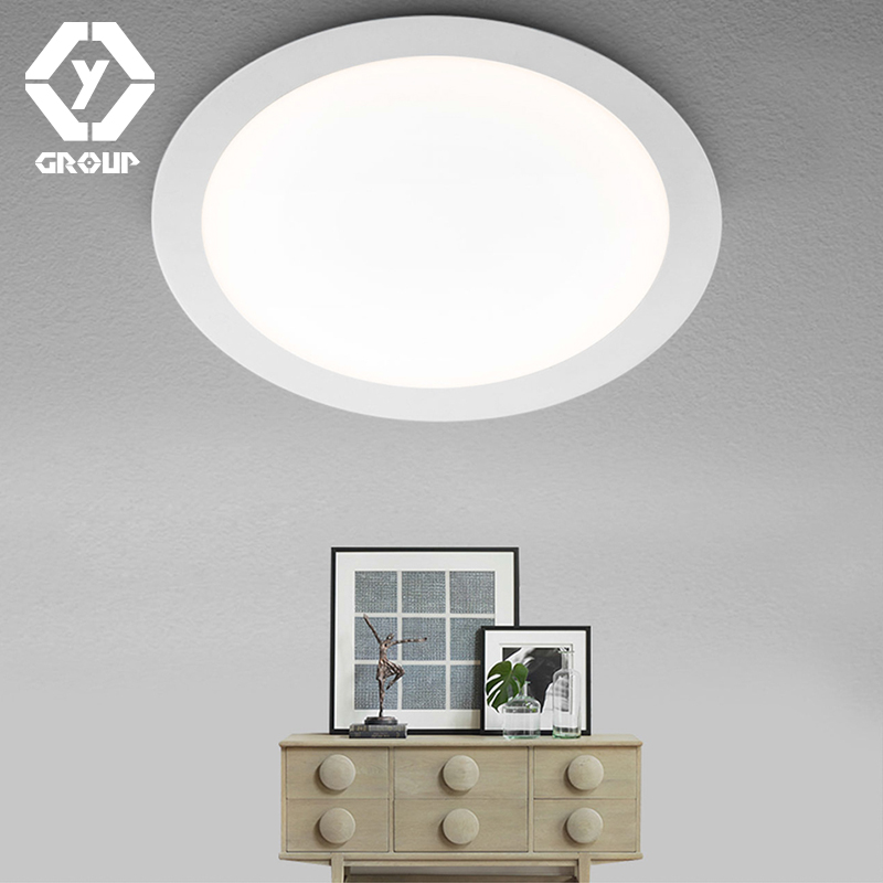 OYGROUP LED Panel Light Ceiling Lamp Downlight Slim Narrow Frame Large Luminous Area With Driver Cool/Warm White #OY517CP01R1<br>