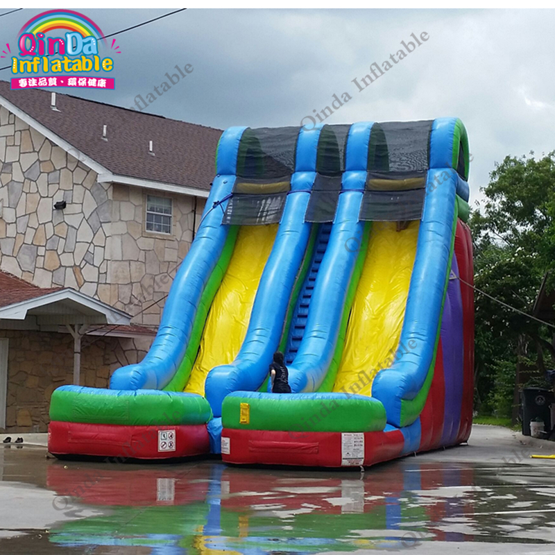 inflatable water slide with pool68