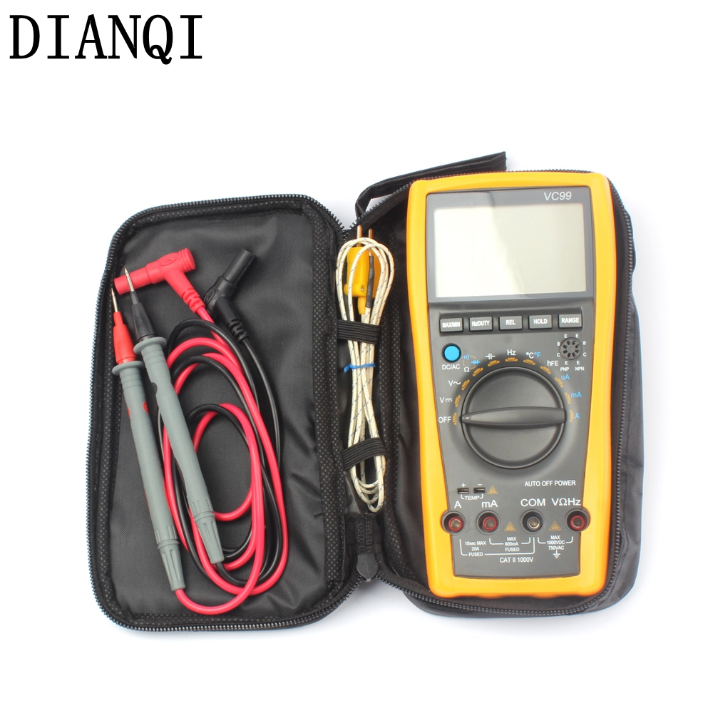 Original Vichy VC99 3 6/7 Auto range digital multimeter have bag Hot sale better  17B+  meter<br>