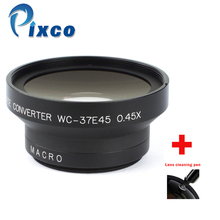 37mm 0.45X Wide Angle Lens with Macro suit For Canon Nikon Pentax Sony Panasonic(Black)+with Lens Cleaning Pen
