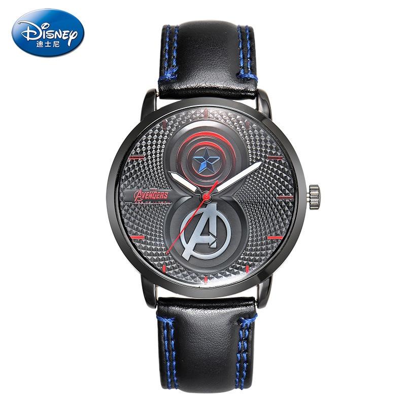 Disney brand Children waterproof Boys quartz watches kids watches Captain America Cartoon leather luminous boy wristwatch clocks<br><br>Aliexpress