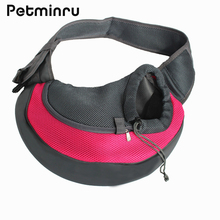 Petminru Pet Backpack Carrying Cat Dog Puppy Small Animal Front Shoulder Bag Comfort Mesh Pet Carrier Bags Travel Tote(China)