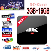 1 Year IPTV Europe 1000+Channels H96 Pro Android 6.0 Tv Box Amlogic S912 3GB/16GB Octa Core WiFi BT4.0 UHD 4K Smart Media Player