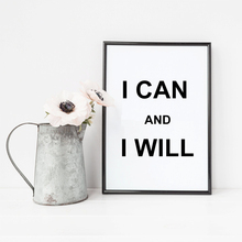 I Can And I Will Inspiring Quote Canvas Print Quote For Room Wall Decoration Canvas Print Home Decoration No Frame LZ351