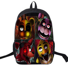 Preppy Style Nylon Backpack Schoolbag Adventure Games Designer Five Nights At Freddys Backpack For Teenagers Anime Bear Satchels(China)