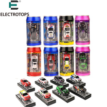 Multi-color 1:63 Coke Can Mini RC Car Radio Remote Control Micro Racing Car Toy Vehicle Remoto Electronic Kid's Toys Gift