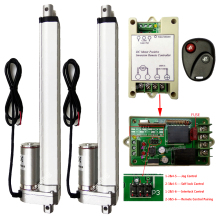 "A Pair of 2 Linear Actuators 10"" 250mm 12V DC Motor &Remote Positive Inversion Controller for Electric Sofa Bed Window Furniture"